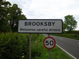Sign for Brooksby Village
